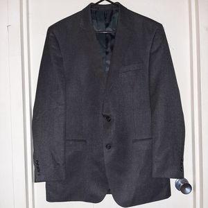 Chaps 2 Button Blazer Grayish Black Men's 44L EUC